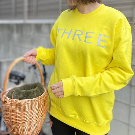 THREE  2nd reflector sweat yellow