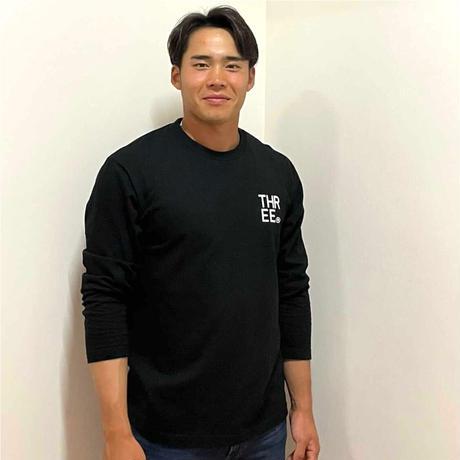 THREE®︎ Logo L/S T-Shirt black