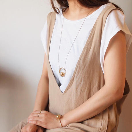 【RESTOCKED】bola circle necklace  (gold)