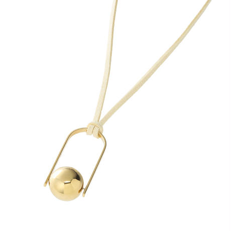 bola rattle necklace (gold)