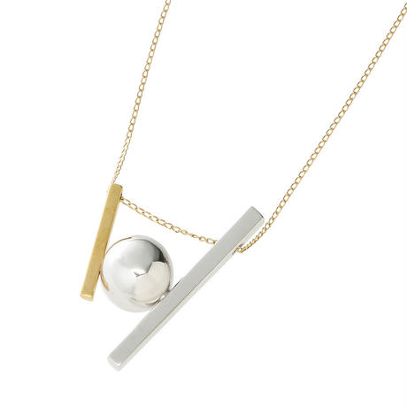 bola stick bi-color necklace