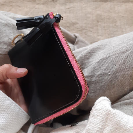短財布 black×pink