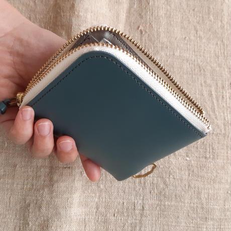 短財布 blue×white