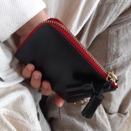 短財布 black×red