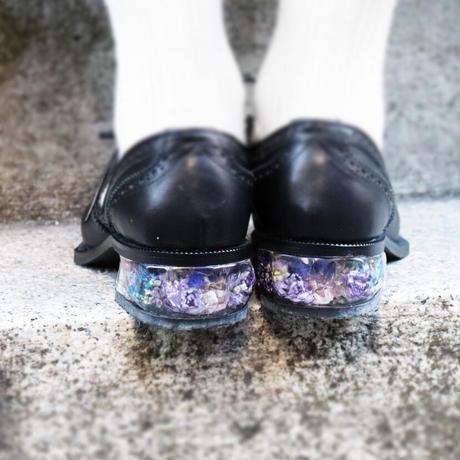 oto Black ×アメジストカラーの花束ヒール