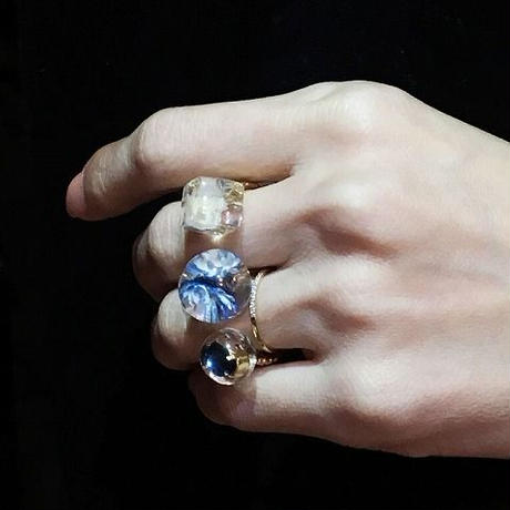 tomodachi ring mixed Blue