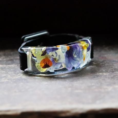 透明色の影(2.5cm幅) ビオラ x Blackレザー
