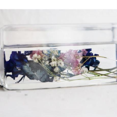 タブレットスタンド 青バラとスターチス