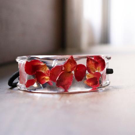 薔薇のヘアゴム 幅2.5cm    -暮らしの中に花々を-