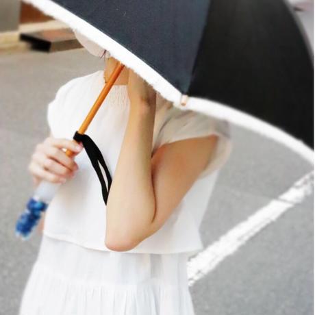 花宿る日傘 Black x 紫陽花