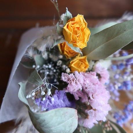 ドライフラワーの花束 「レモンチーズケーキ」