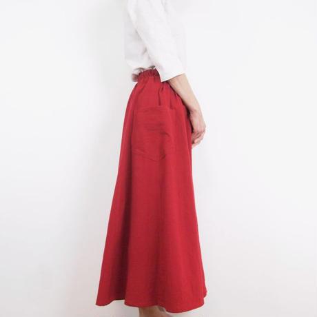 Kimamaフレアスカート(木綿 赤)【受注生産対応】
