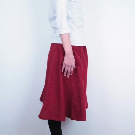 Furusuミドルキュロット(木綿 深緋)【受注生産対応】