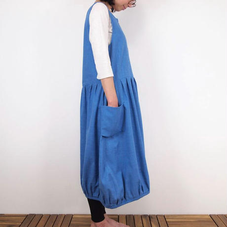 Furusuバルーンワンピース(木綿 天色)【受注生産対応】