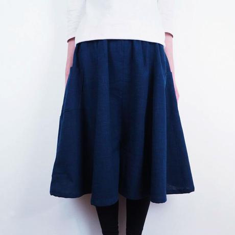 Furusuミドルキュロット(木綿 鉄紺)【受注生産対応】