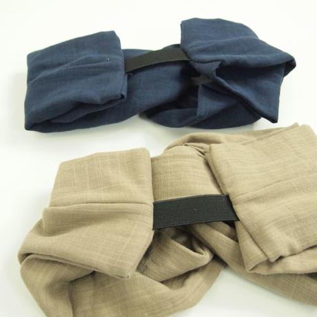 Tsutomeヘアターバン(綿ダブルガーゼ  ベージュ)