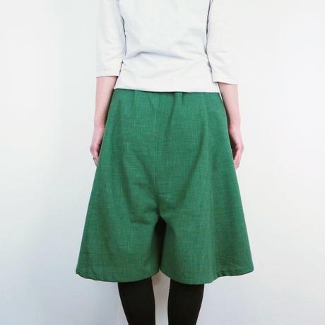 Furusuミドルキュロット(木綿 深緑)【受注生産対応】