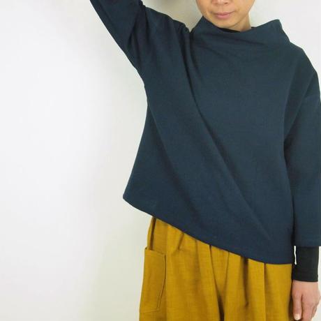 Kimamaルーズカラーシャツ(木綿 濃紺)【受注生産対応】