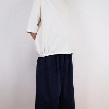 Kimamaフードバルーンシャツ(木綿 生成)【受注生産対応】