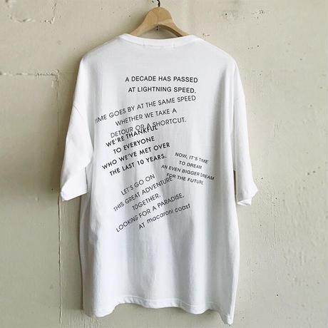 10周年記念Tシャツ マカロニマーク BLACK