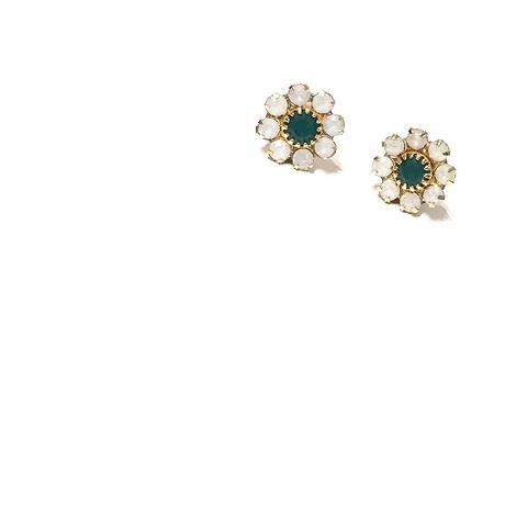 再販【数量限定】Opal flower pierce