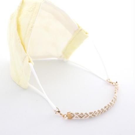 和紙糸のマスクフック(マスクレット)*ダイヤ柄/ベージュ
