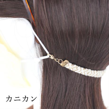 和紙糸のマスクフック(マスクレット)*ダイヤ柄/グリーン