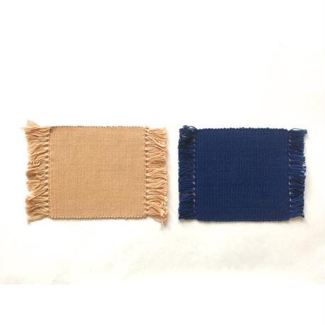インド綿手織りコースター