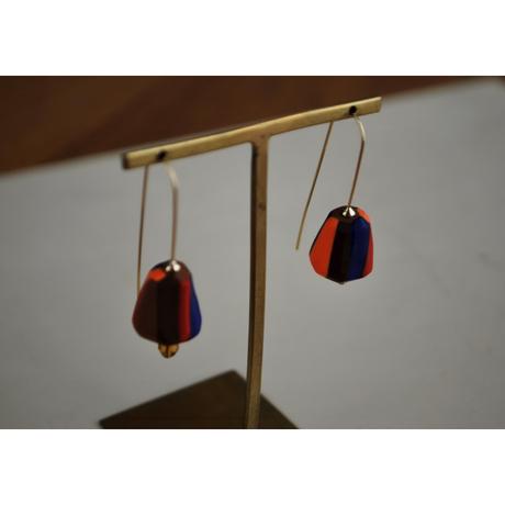 カクカクピアス・イヤリング red orange blue