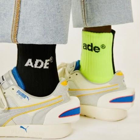 ADER ERROR Ade sewing socks  // Black / Yellow