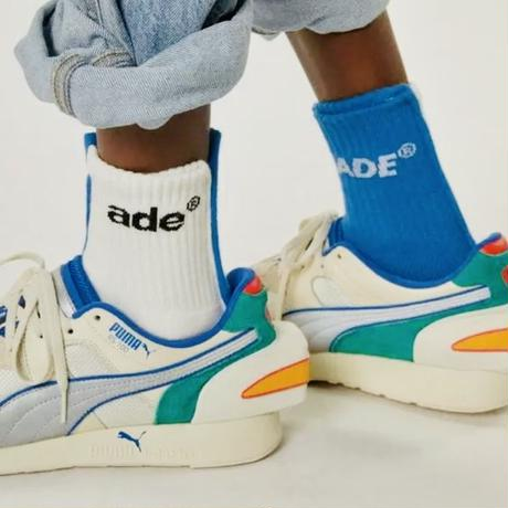 ADER ERROR Ade sewing socks  //White / Blue