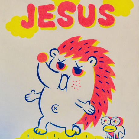 複製画パネル「JESUS」#018 キャンパス (F15)