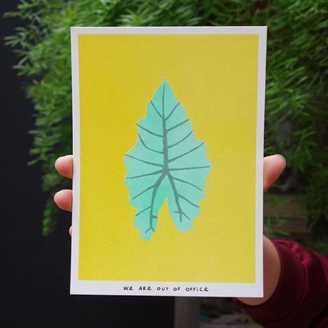 リソグラフプリント_アルカシアの葉
