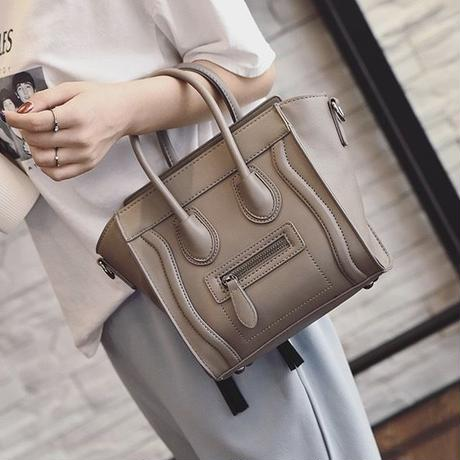 Gray beige brown Luggage Bag mini