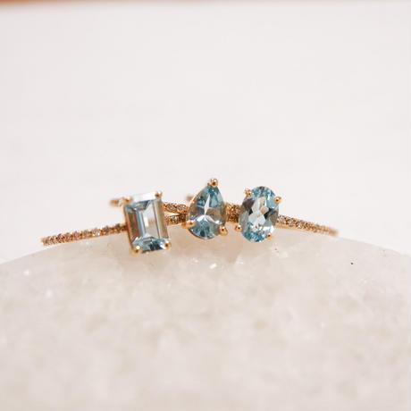 MUSE Ring -Aquamarine- オクタゴンカット