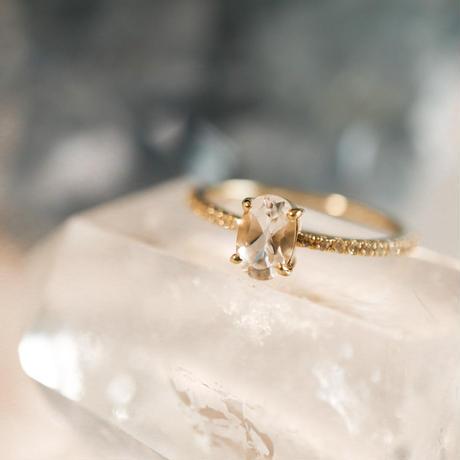 MUSE Ring -White Topaz- オーバルカット