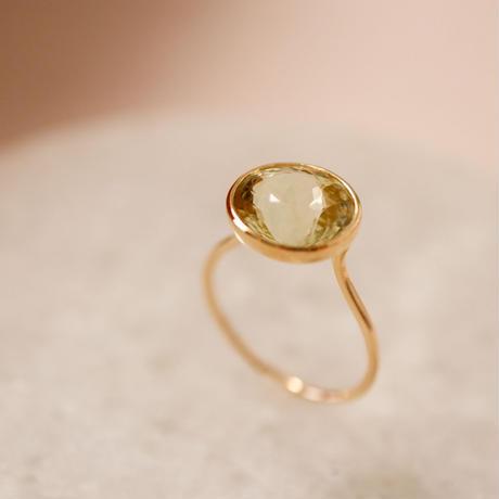 Yellow Tourmaline イエロートルマリン-K10- Ring
