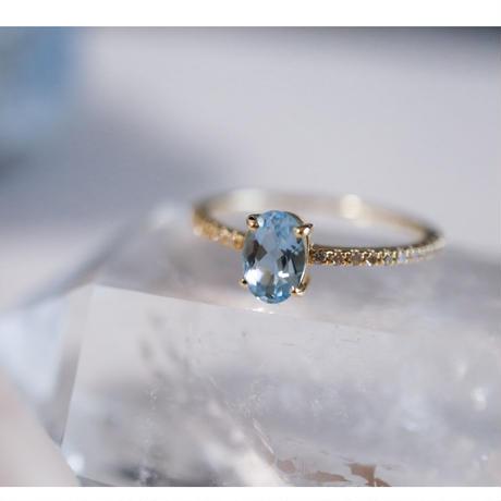 MUSE Ring -Aquamarine- オーバルカット