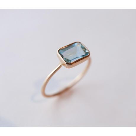 Aquamarine アクアマリン-K10- Ring  スクエア