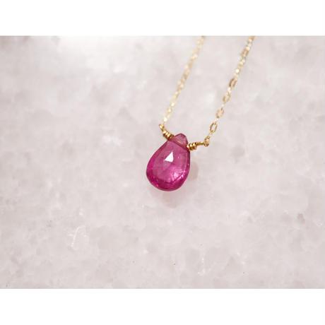 Pink Tourmalineピンクトルマリン-K10- ネックレス