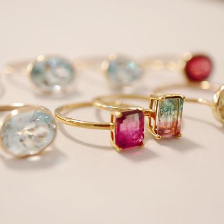 Pinkバイカラートルマリン -K18- Ring