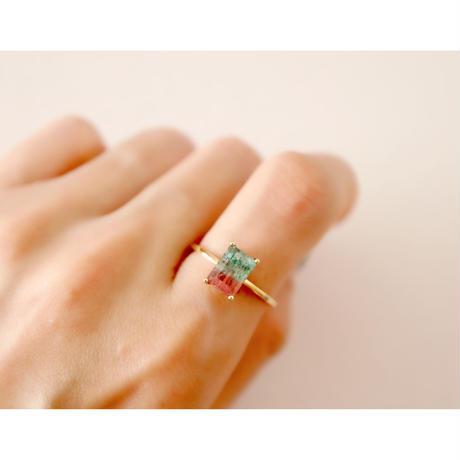 バイカラートルマリン -K18- Ring