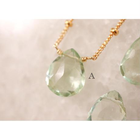 -Green  amethyst- ネックレス