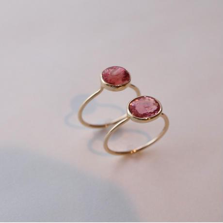 Pink Tourmaline ピンクトルマリン-K10- Ring ピーチ