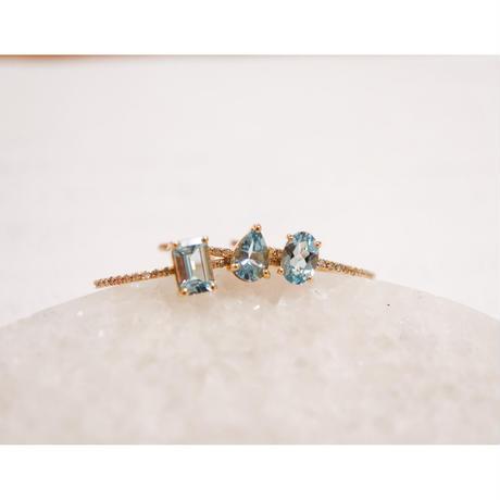 MUSE Ring -Aquamarine- ペアシェイプカット