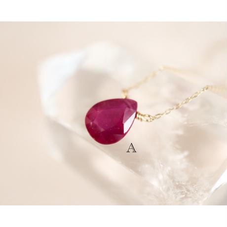 Ruby ルビー-K10- ネックレス