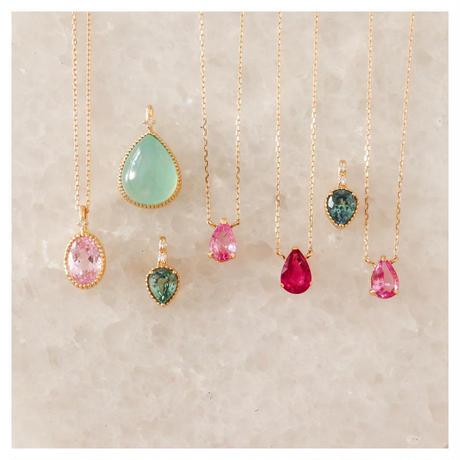 Pink Sapphire ピンクサファイア-K18-  ネックレス