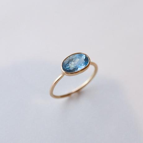 Aquamarine アクアマリン-K10- Ring  オーバル