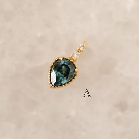 モンタナサファイア/ダイヤモンド-18K- チャーム