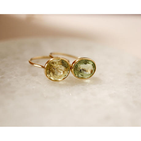 Green Tourmaline グリーントルマリン -K10- Ring